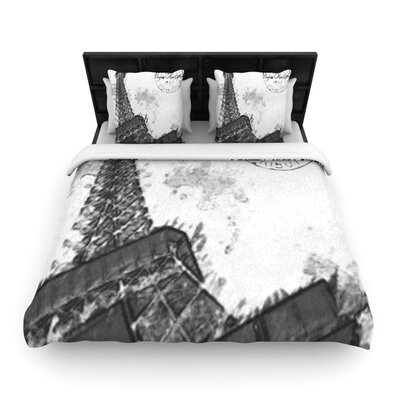 Bonjour Mon Amour by Oriana Cordero Woven Duvet Cover Size: King/California King