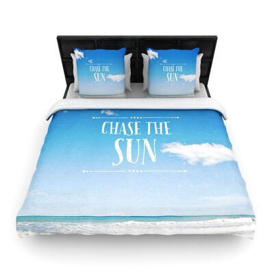 Chase the Sun by Susannah Tucker Woven Duvet Cover Size: Queen