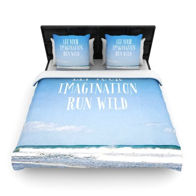 Let Your Imagination Run Wild by Susannah Tucker Woven Duvet Cover Size: Queen