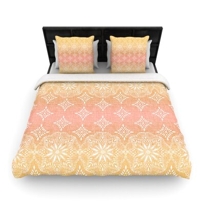 Medallion Blush Ombre by Suzie Tremel Woven Duvet Cover Size: King/California King