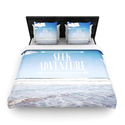 Seek Adventure by Susannah Tucker Woven Duvet Cover Size: King/California King
