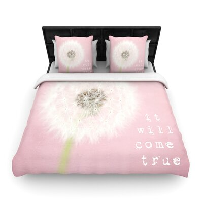 It Will Come True by Susannah Tucker Woven Duvet Cover Size: Twin