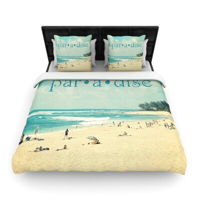 Paradise by Sylvia Cook Woven Duvet Cover Size: Queen