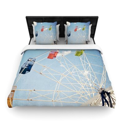 The Show Came to Town by Susannah Tucker Woven Duvet Cover Size: Queen