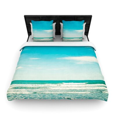 The Teal Ocean by Susannah Tucker Woven Duvet Cover Size: Queen