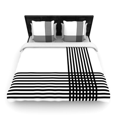 Furniture-KESS InHouse Krizanje by Trebam Woven Duvet Cover