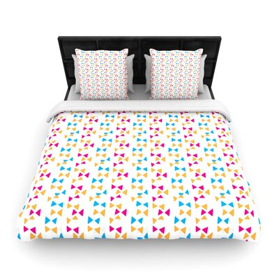 Lets Celebrate by Apple Kaurs Woven Duvet Cover Size: Twin