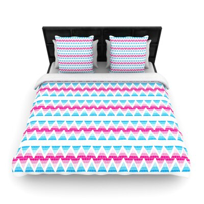 Swimming Pool Tiles by Apple Kaurs Woven Duvet Cover Size: Queen