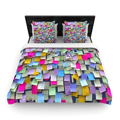 Respekt by Trebam Woven Duvet Cover Size: Twin