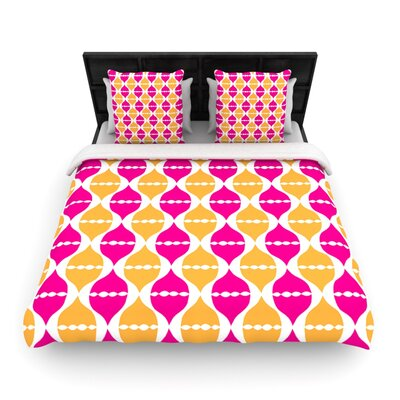 Moroccan Dreams by Apple Kaurs Woven Duvet Cover Size: Queen