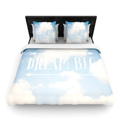 Dream Big by Susannah Tucker Woven Duvet Cover Size: Twin
