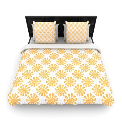 Sunburst by Apple Kaurs Woven Duvet Cover Size: King/California King