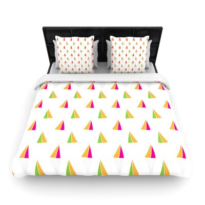 Triangles by Apple Kaurs Woven Duvet Cover Size: Twin