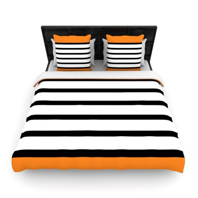 Sest Redaka Orange by Trebam Woven Duvet Cover Size: Twin