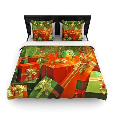 Wrapped in Cheer by Snap Studio Woven Duvet Cover Size: King/California King
