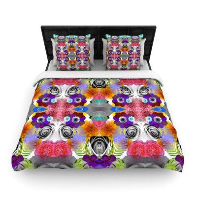 Tropical Flowers by Vasare Nar Woven Duvet Cover Size: Twin