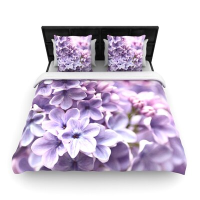 Lilac by Sylvia Cook Woven Duvet Cover Size: King/California King