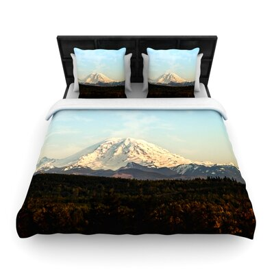 Mt. Rainier by Sylvia Cook Woven Duvet Cover Size: Twin