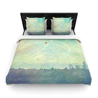 Follow Your Own Arrow by Robin Dickinson Woven Duvet Cover Size: Queen