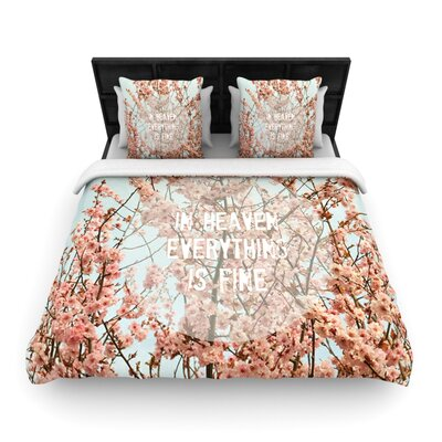 In Heaven by Robin Dickinson Woven Duvet Cover Size: Queen
