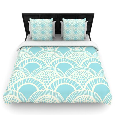 Heathered Scales by Suzie Tremel Woven Duvet Cover Size: Queen
