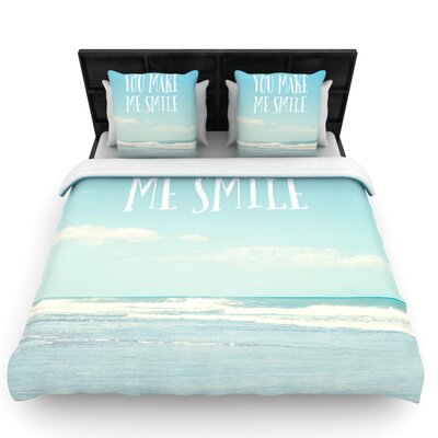 You Make Me Smile by Susannah Tucker Woven Duvet Cover Size: Queen