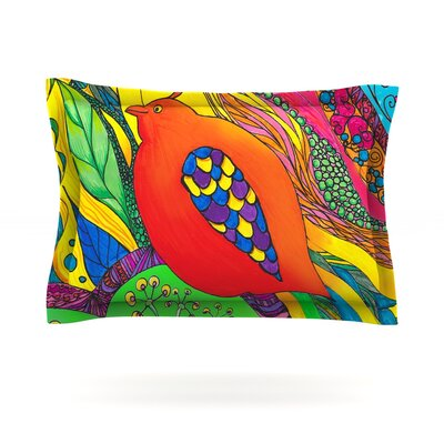 Psycho-Delic Dan by Catherine Holcombe Featherweight Pillow Sham Size: Queen, Fabric: Cotton