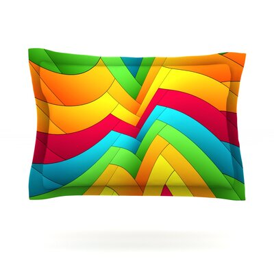 Olympia by Danny Ivan Featherweight Pillow Sham Size: Queen, Fabric: Cotton