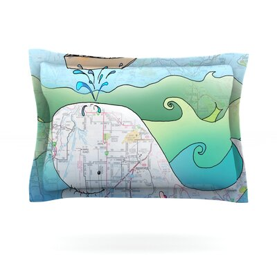 Im on a Boat by Catherine Holcombe Featherweight Pillow Sham Size: King, Fabric: Cotton