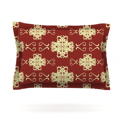 Asian Motif Damask by Mydeas Featherweight Pillow Sham Size: King, Fabric: Cotton