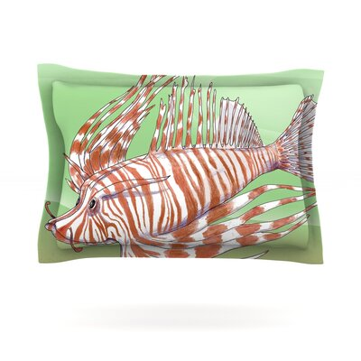 Fish Manchu by Catherine Holcombe Featherweight Pillow Sham Size: King, Fabric: Cotton