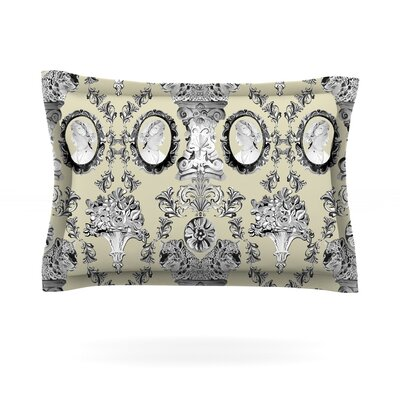 Imperial Palace by DLKG Design Featherweight Pillow Sham Size: King, Fabric: Cotton