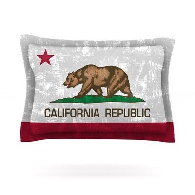 California Flag by Bruce Stanfield Featherweight Pillow Sham Size: 20 H x 30 D, Fabric: Cotton