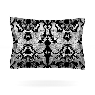 Versailles by DLKG Design Featherweight Pillow Sham Size: Queen, Color: Black, Fabric: Cotton