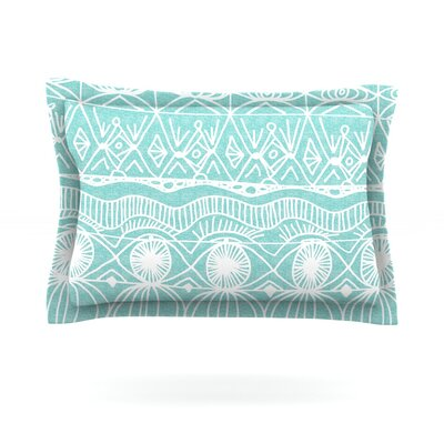 Beach Blanket Bingo by Catherine Holcombe Featherweight Pillow Sham Size: Queen, Fabric: Cotton