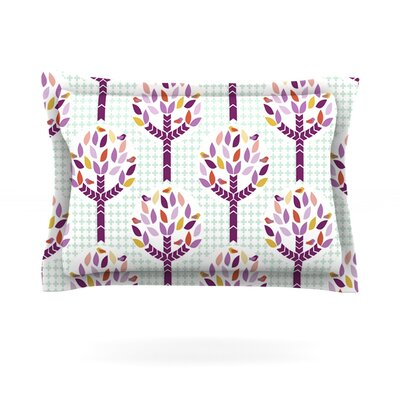 Orchid Spring Tree by Pellerina Design Featherweight Pillow Sham Size: Queen, Fabric: Cotton