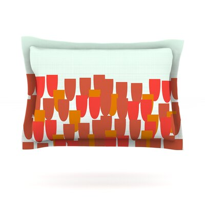 Sunrise Poppies by Pellerina Design Featherweight Pillow Sham Size: King, Fabric: Cotton