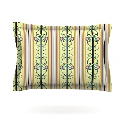 Blooming Trellis by Mydeas Featherweight Pillow Sham Size: King, Fabric: Cotton