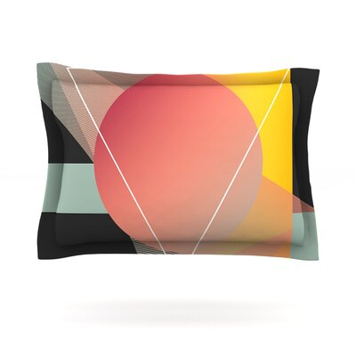 Objectum by Danny Ivan Featherweight Pillow Sham Size: Queen, Fabric: Cotton