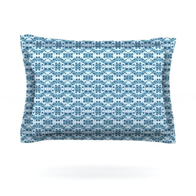 Blue Circle Abstract by Empire Ruhl Featherweight Pillow Sham Size: King, Fabric: Cotton