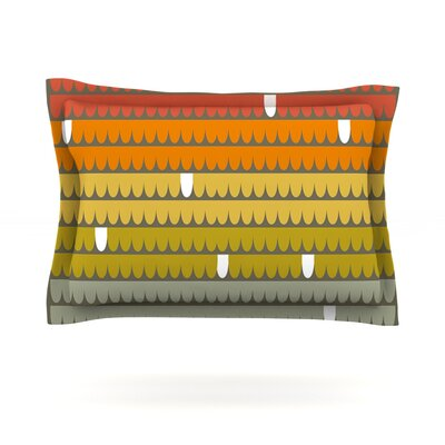 Rainbow Scallops by Pellerina Design Featherweight Pillow Sham Size: Queen, Fabric: Cotton