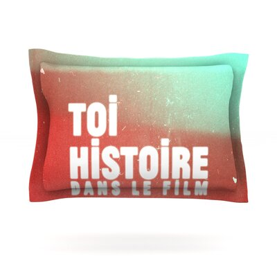 Toi Histoire by Danny Ivan Featherweight Pillow Sham Size: Queen, Fabric: Cotton