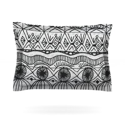 Blanket of Confusion by Catherine Holcombe Featherweight Pillow Sham Size: King, Fabric: Cotton