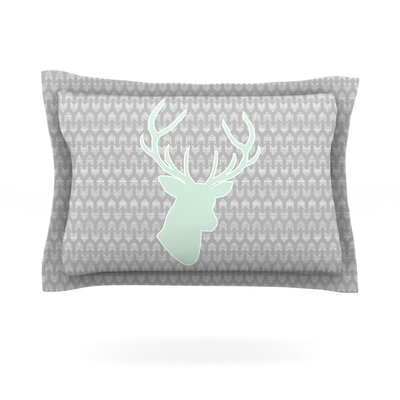 Winter Deer by Pellerina Design Featherweight Pillow Sham Size: Queen, Fabric: Cotton