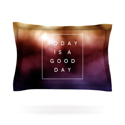Good Day by Galaxy Eyes Featherweight Pillow Sham Size: King, Fabric: Cotton