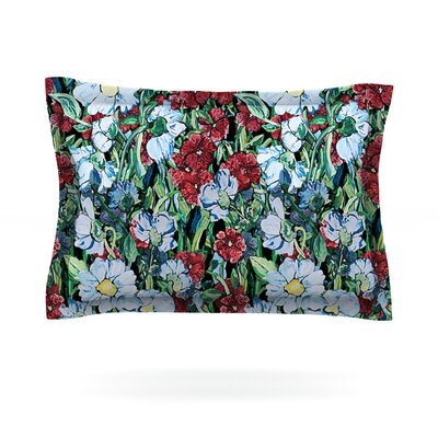 Giardino by DLKG Design Featherweight Pillow Sham Size: King, Fabric: Cotton
