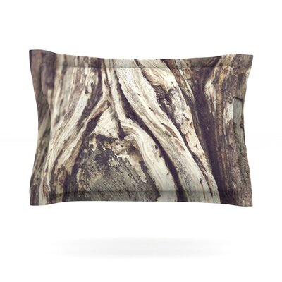 Bark by Catherine McDonald Featherweight Pillow Sham Size: King, Fabric: Cotton