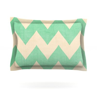 Malibu by Catherine McDonald Featherweight Pillow Sham Size: Queen, Fabric: Cotton