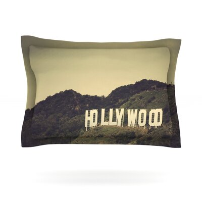 Hollywood by Catherine McDonald Featherweight Pillow Sham Size: King, Fabric: Cotton