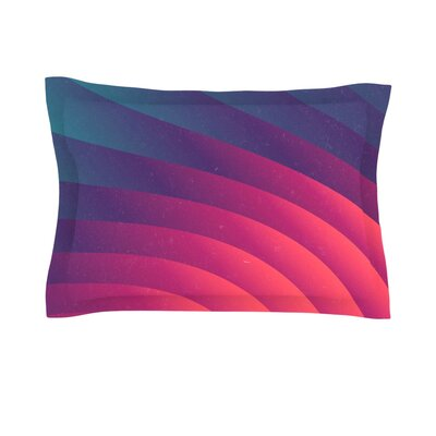 Reservoir Lines by Danny Ivan Featherweight Pillow Sham Size: Queen, Fabric: Cotton